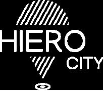 Logo HieroCity. Deine Stadt App. Dein Erlebnis-Assistent. Die City App für Stadterlebnis Stadtmarketing Einzelhandel Gamification Events und Smart Shopping. Belebend durch den Shared Activity Builder (KI)